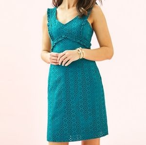 Lilly Pulitzer Kaylee Shift Dress Teal Size 16 NWT
